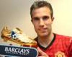 van persie picks up premier league golden boot