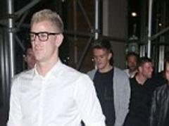 Manchester City players out in New York with Joe Hart in glasses