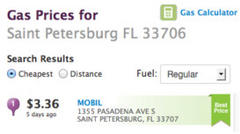 where's the cheapest gas in st. pete beach area?