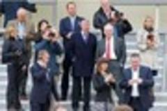 Sir Alex Ferguson watches race horse Telescope at Lingfield Park
