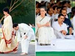 tears and tributes on the anniversary of rajiv gandhi's death at a packed memorial